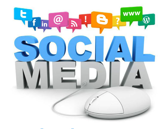 Social Media through Facebook, Twitter, Pinterest, Youtube, Vimeo and more