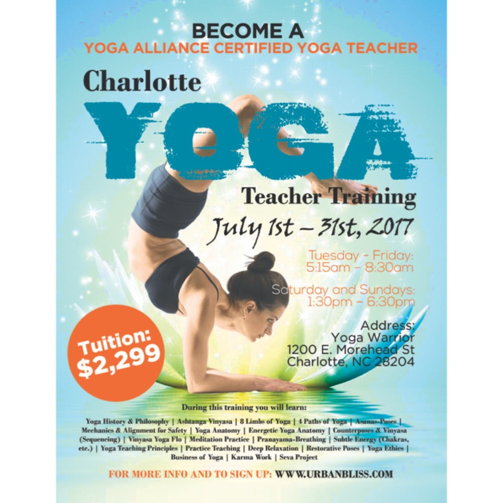 Charlotte Yoga Teacher Training